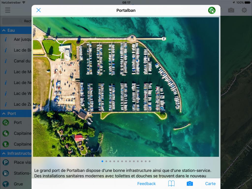 BoatDriver Guide détails de port