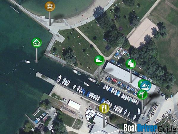 BoatDriver Guide lieux et objets marqués avec un pin